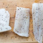 Cod with salt and pepper