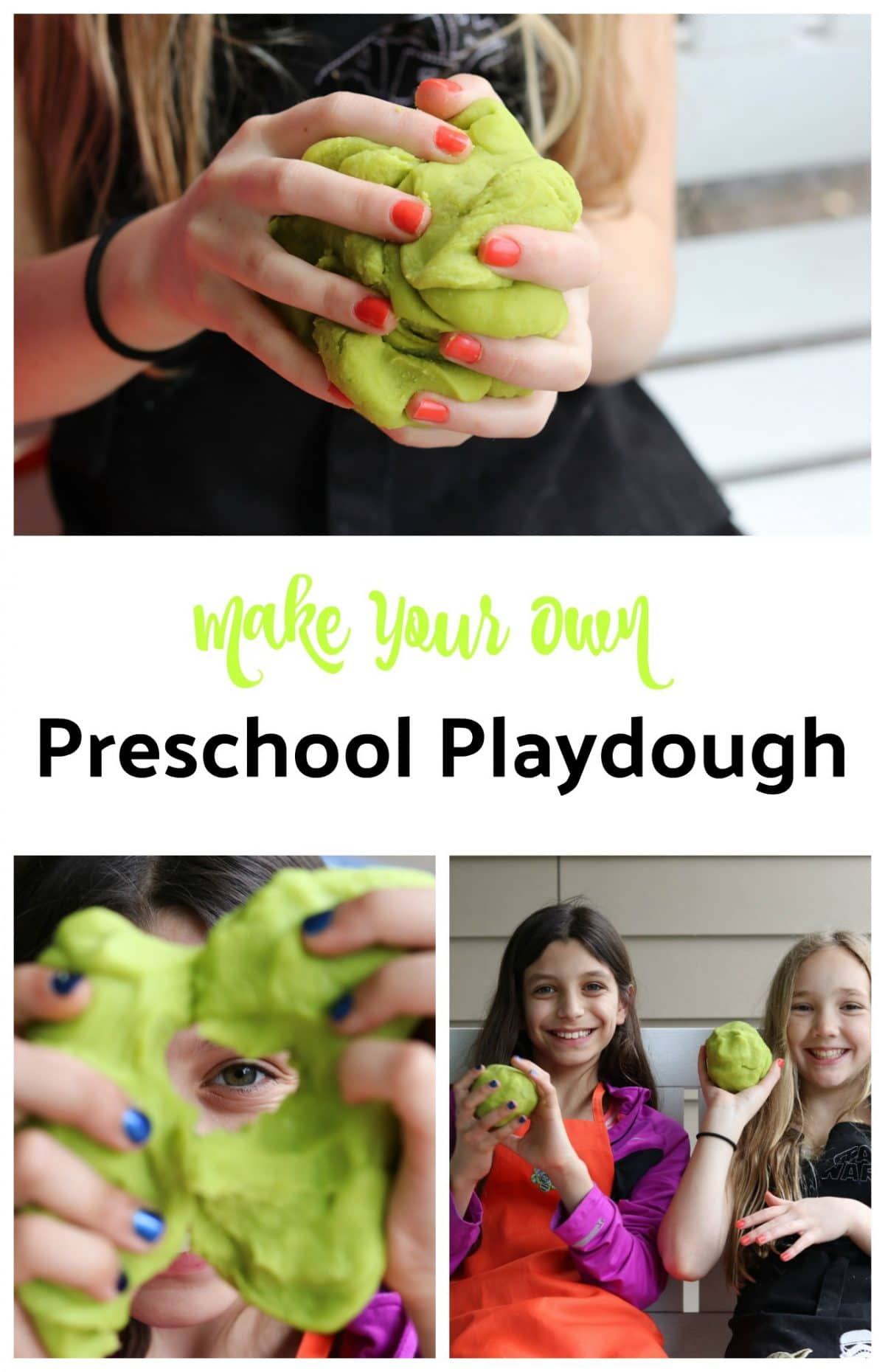 Preschool Playdough || Erin Brighton | DIY | Kid Crafts | Kids in the Kitchen | Preschool Fun