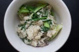 Risotto with Wild Ramps and Greens