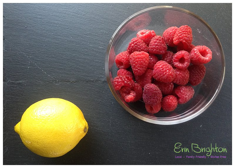 Lemon and raspberries