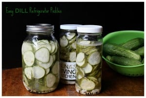 Easy Dill Refrigerator Pickles