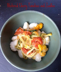 Blistered Cherry Tomatoes With Zucchini Zoodles