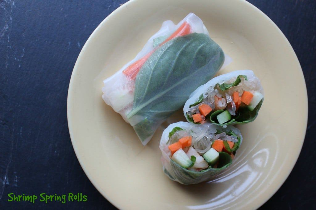 Simple Shrimp Spring Rolls