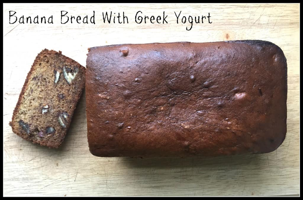 Banana Pecan Bread With Greek Yogurt