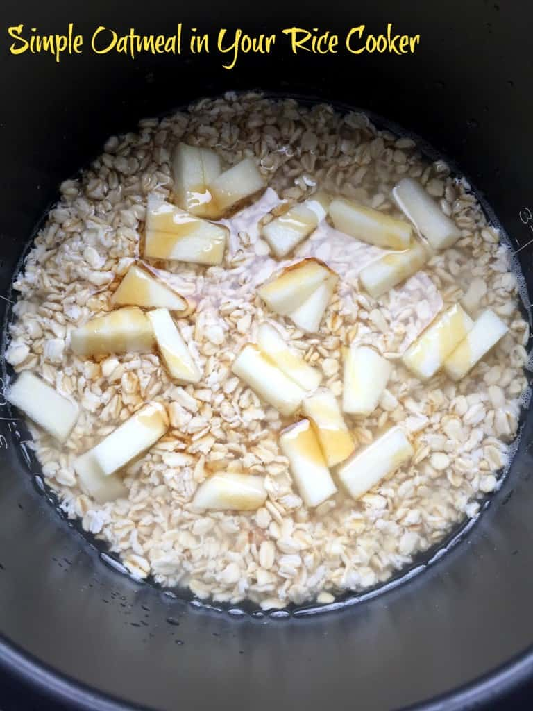 Simple oatmeal in your rice cooker