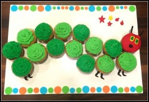 The Very Hungry Caterpillar Birthday Cupcakes