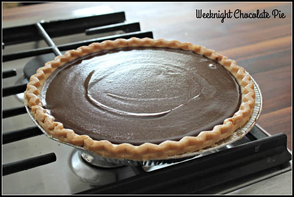 Weeknight Chocolate Pie