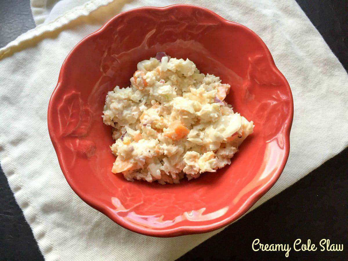 Creamy Cole Slaw (From A Food Processor!)