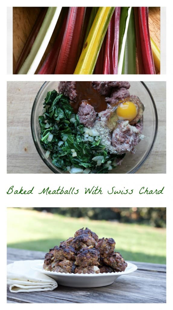 Baked meatballs with swiss chard #SundaySupper
