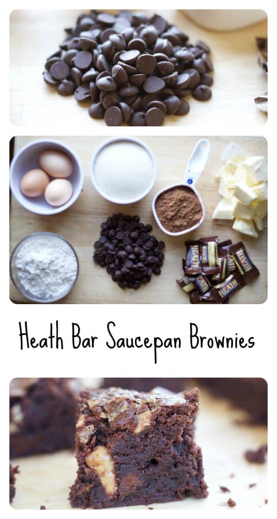 heath bar saucepan brownies