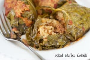 Baked stuffed collards