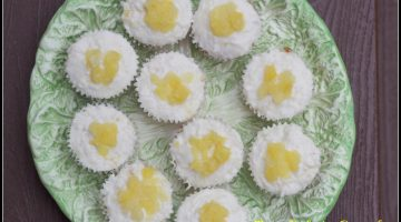 Pina Colada Cupcakes and Coconut Buttercream Frosting #SundaySupper
