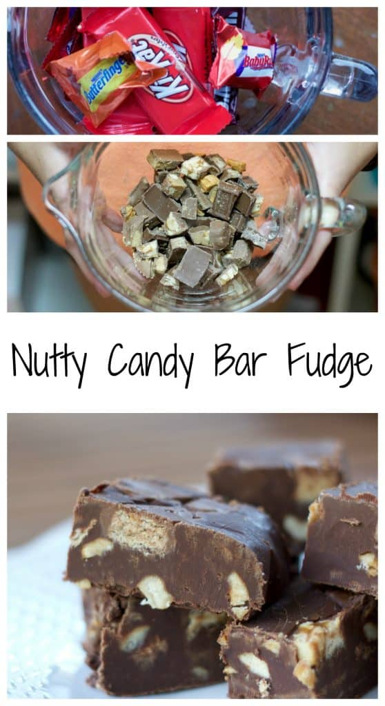 Nutty Candy Bar Fudge || Erin Brighton | #SundaySupper | gluten-free | dessert | chocolate | Halloween recipes
