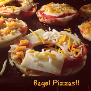 Bagel pizzas and pita pizzas || Erin Brighton