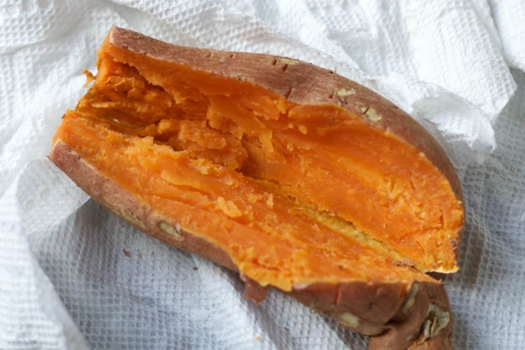 sweet potatoes microwaved