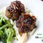 Asian Meatballs With Garlicky Hoisin Sauce