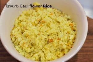 turmeric cauliflower rice || Erin Brighton | grain free | whole30 | paleo | gluten-free