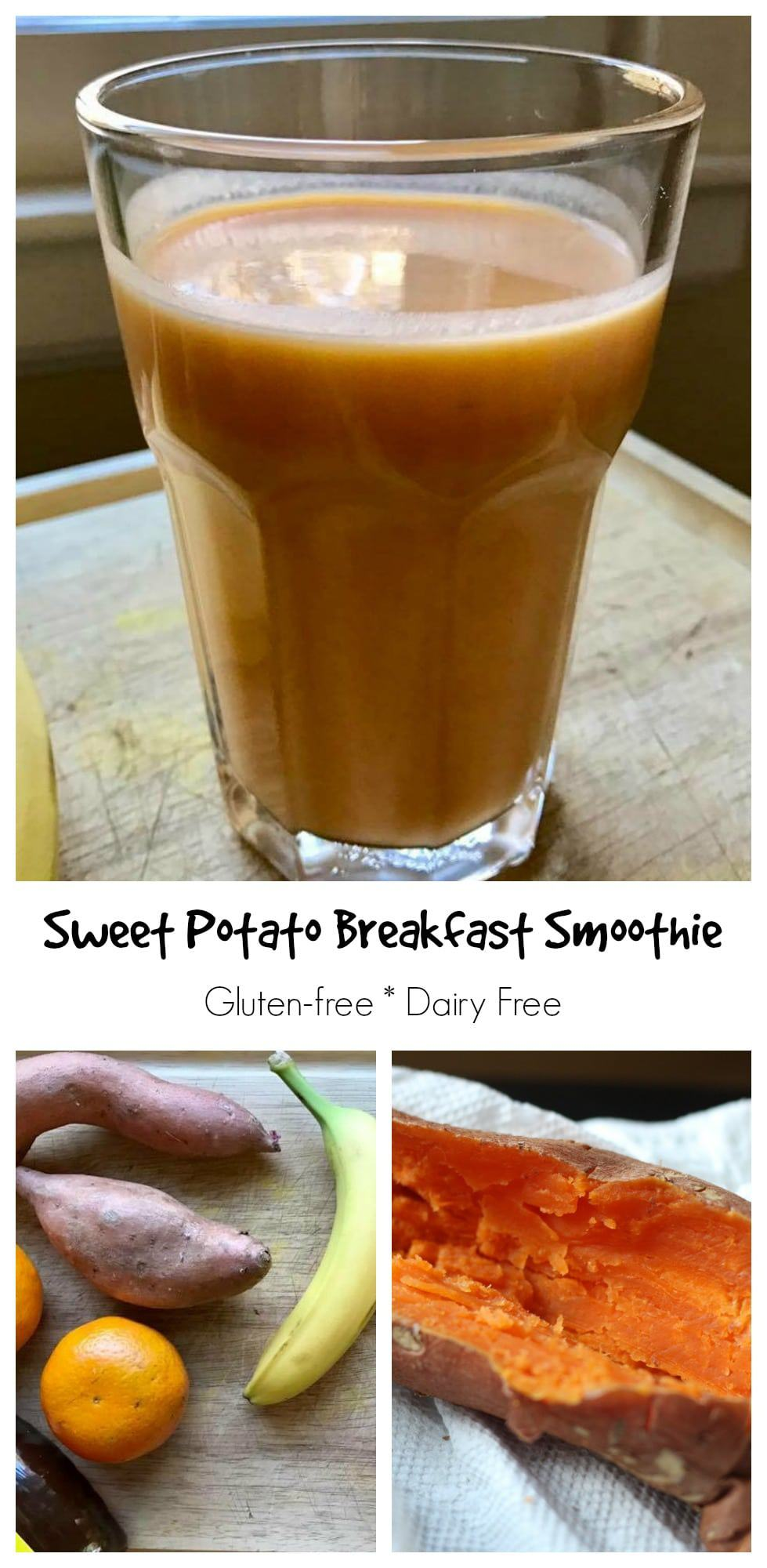 Sweet potato breakfast smoothie || Erin Brighton | dairy free | vegan | smoothies | easy breakfast | eat local | Got To Be NC