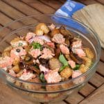 Salmon and Capers Panzanella Salad #SundaySupper
