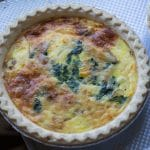 Easy Quiche Lorraine With Caramelized Onions and Swiss Chard