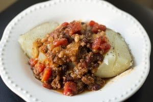 Chili On a Baked Potato || Erin Brighton | easy dinners | slow cooker recipes | chorizo | beef | Got To Be NC