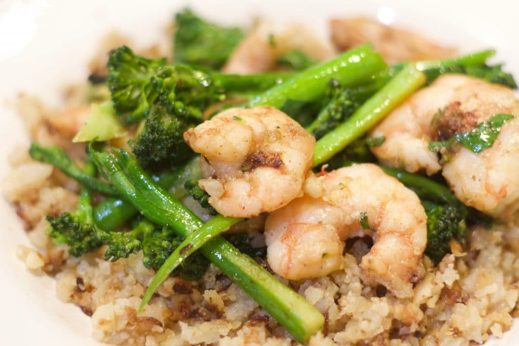 Garlicky Shrimp With Broccoli Rabe || Erin Brighton | gluten free | easy dinners | seafood | eat local | Got To Be NC