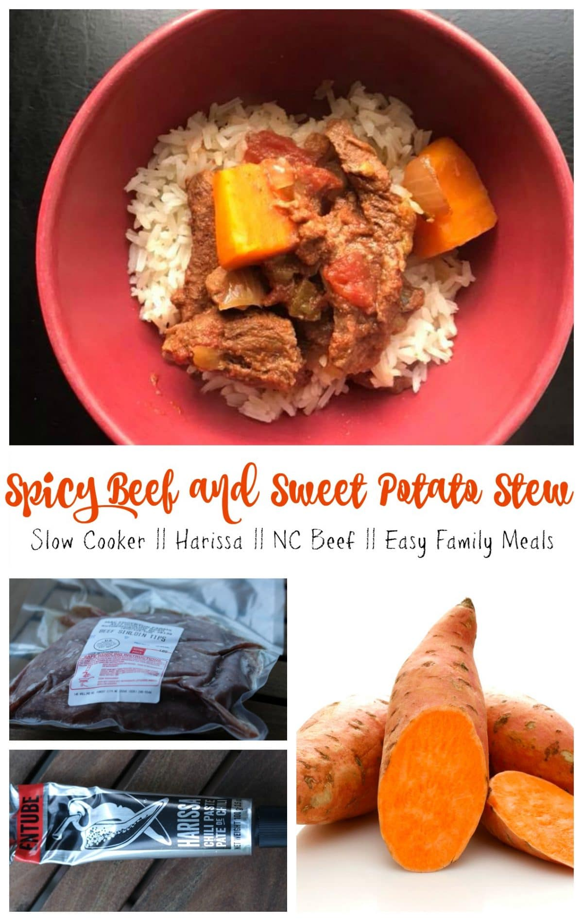 Slow Cooker Spicy Beef and Sweet Potato Stew || Erin Brighton | Got To Be NC | NC Beef | NC Sweet Potatoes | Easy Family Meals