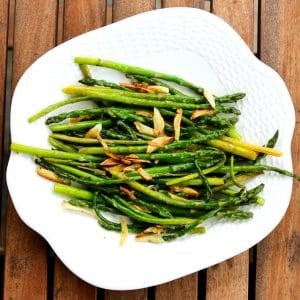 Baby Asparagus and Crispy Garlic || Erin Brighton | vegetables | spring veggies | easy side dishes | eat local | Got To Be NC