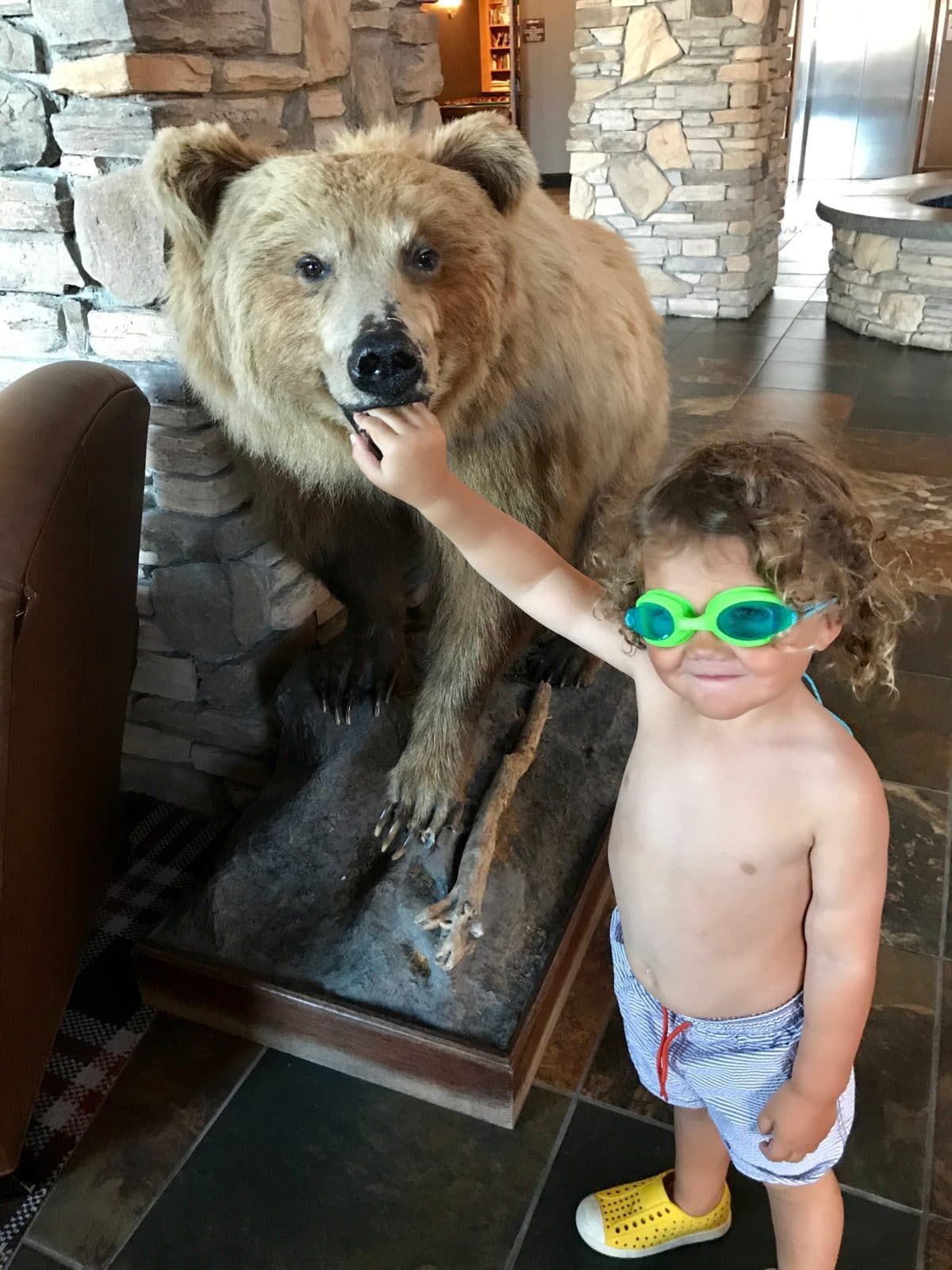 Keegan and the bear