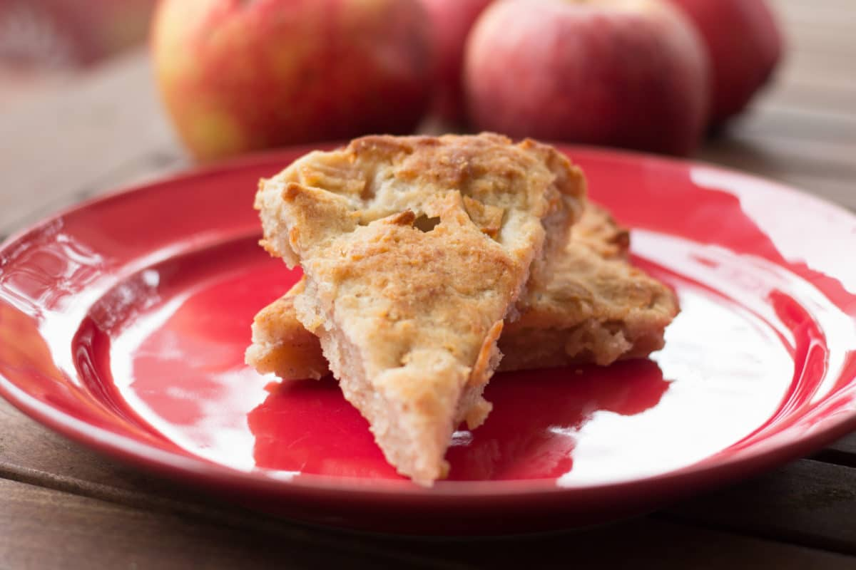 apple scones with apples