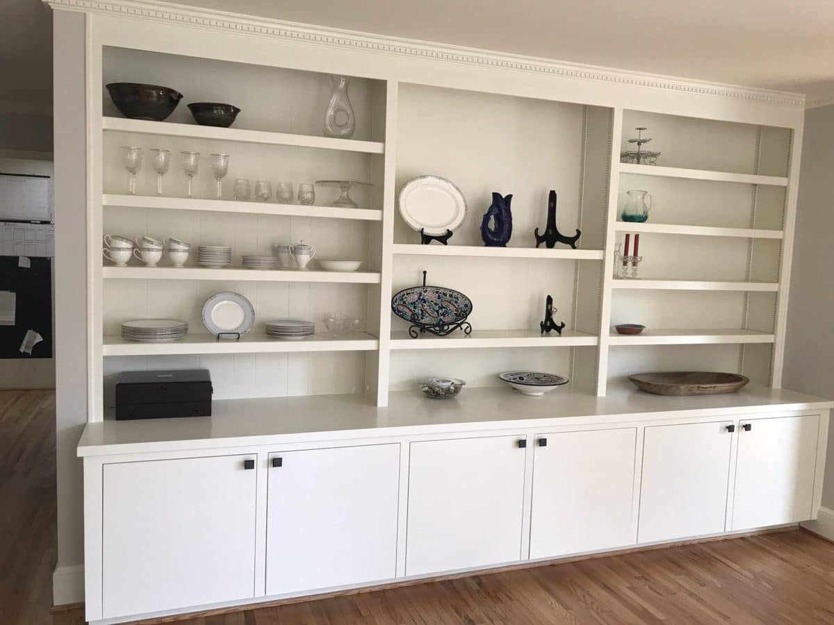 Built In Cabinets in the Dining Room