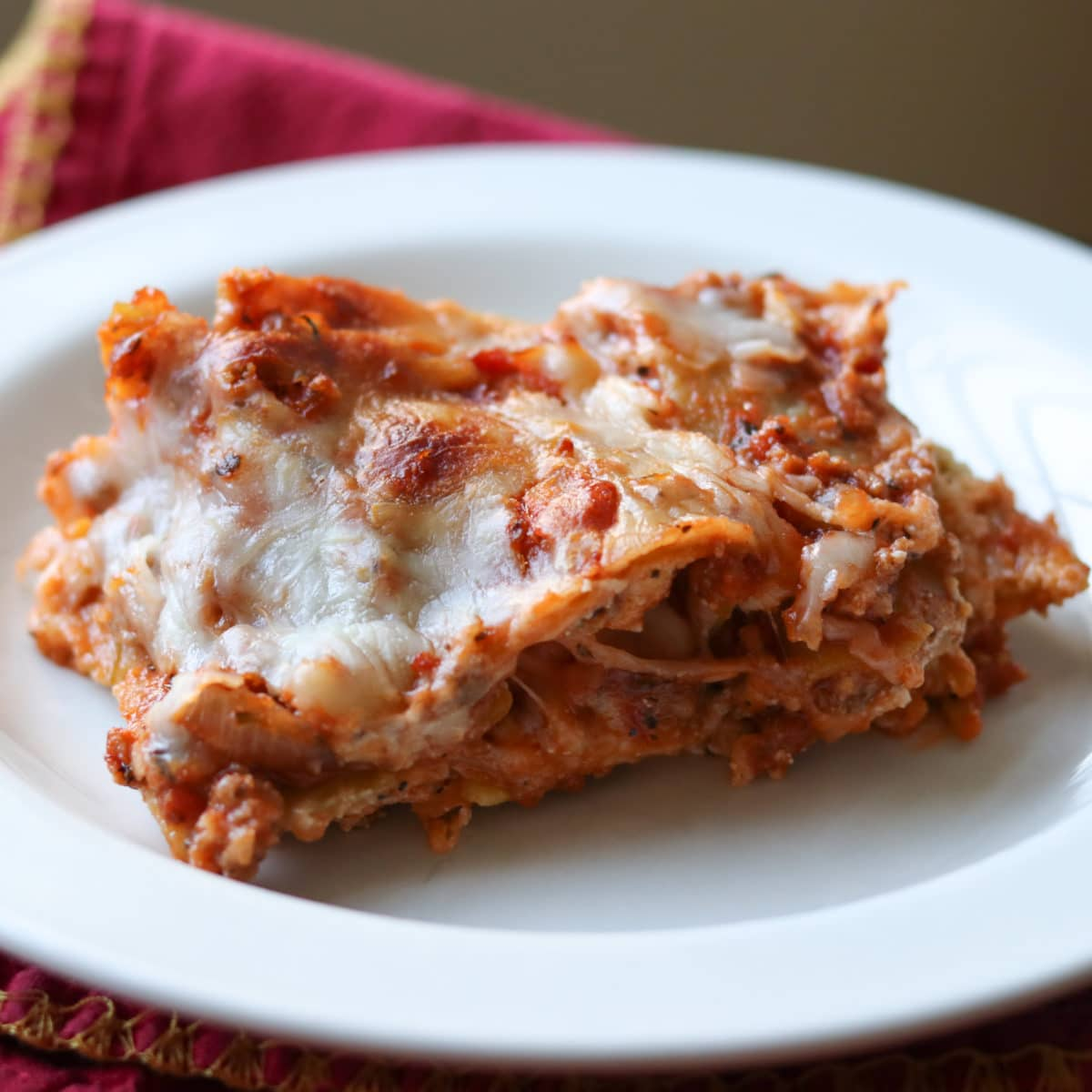 delicious, easy GF lasagne