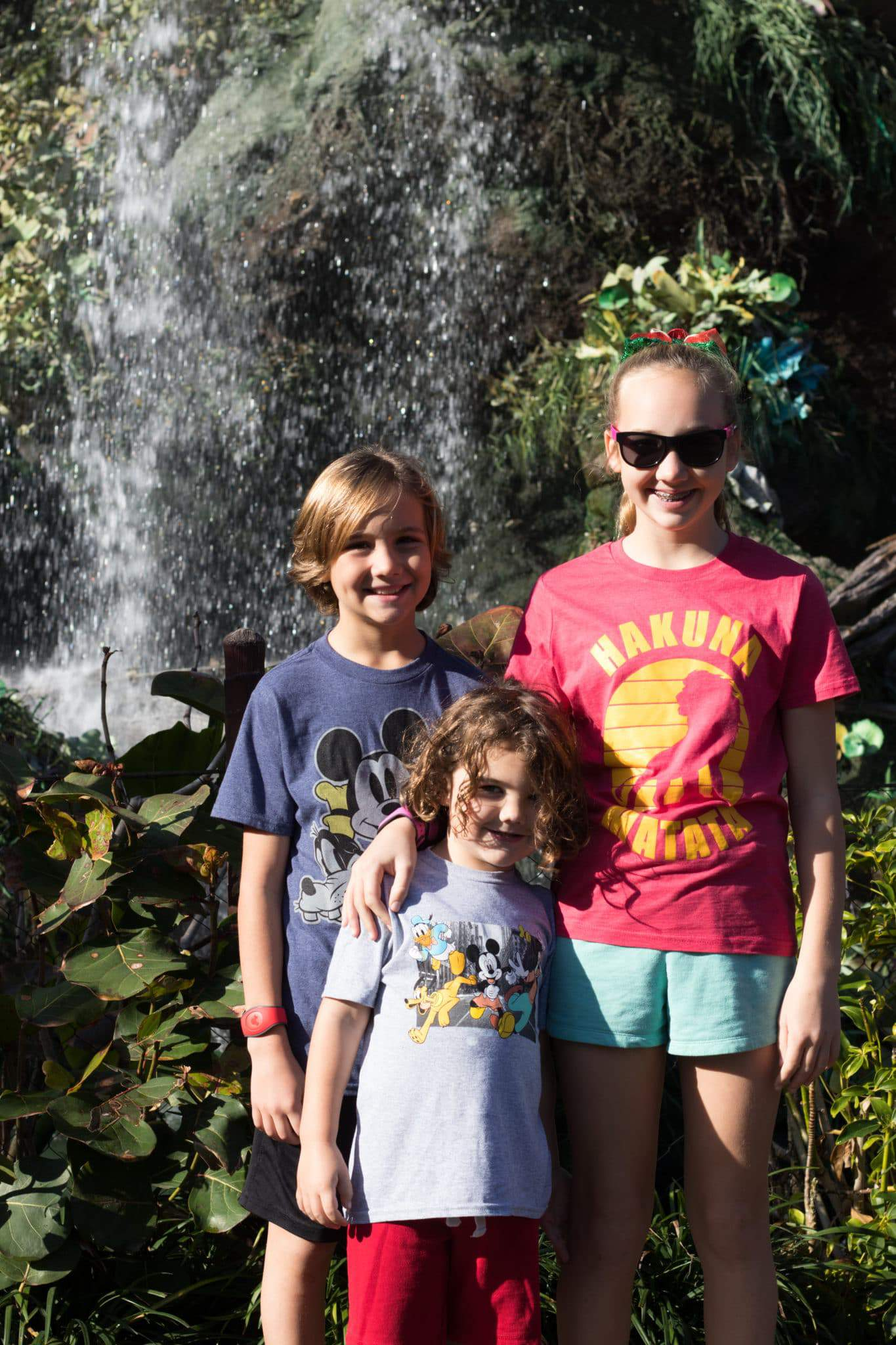three kids at animal kingdom