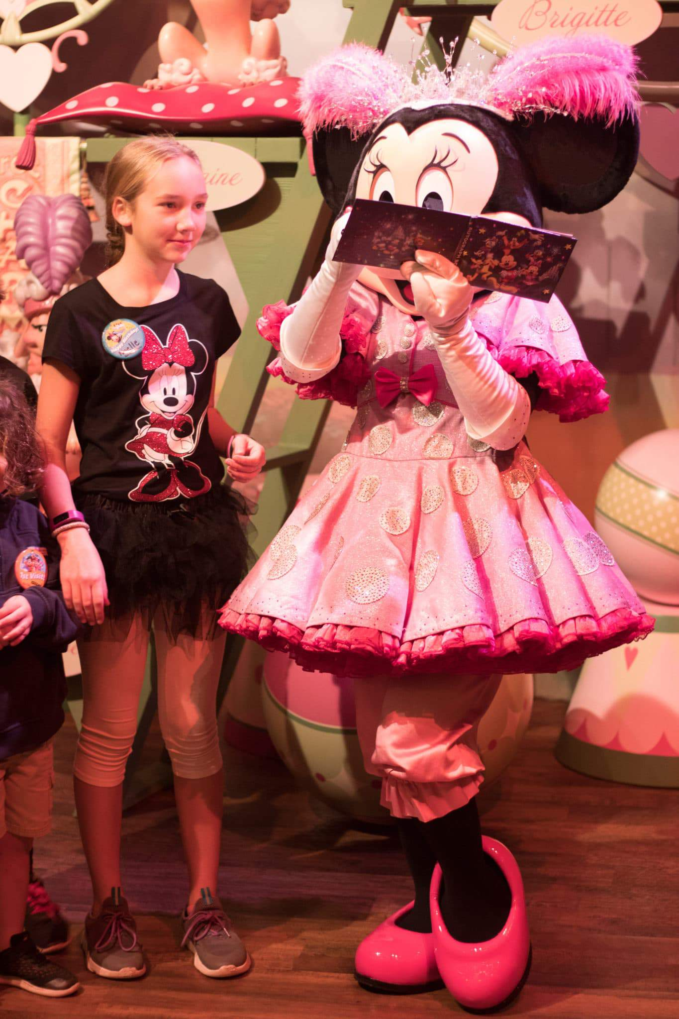 VIsiting with Minnie Mouse