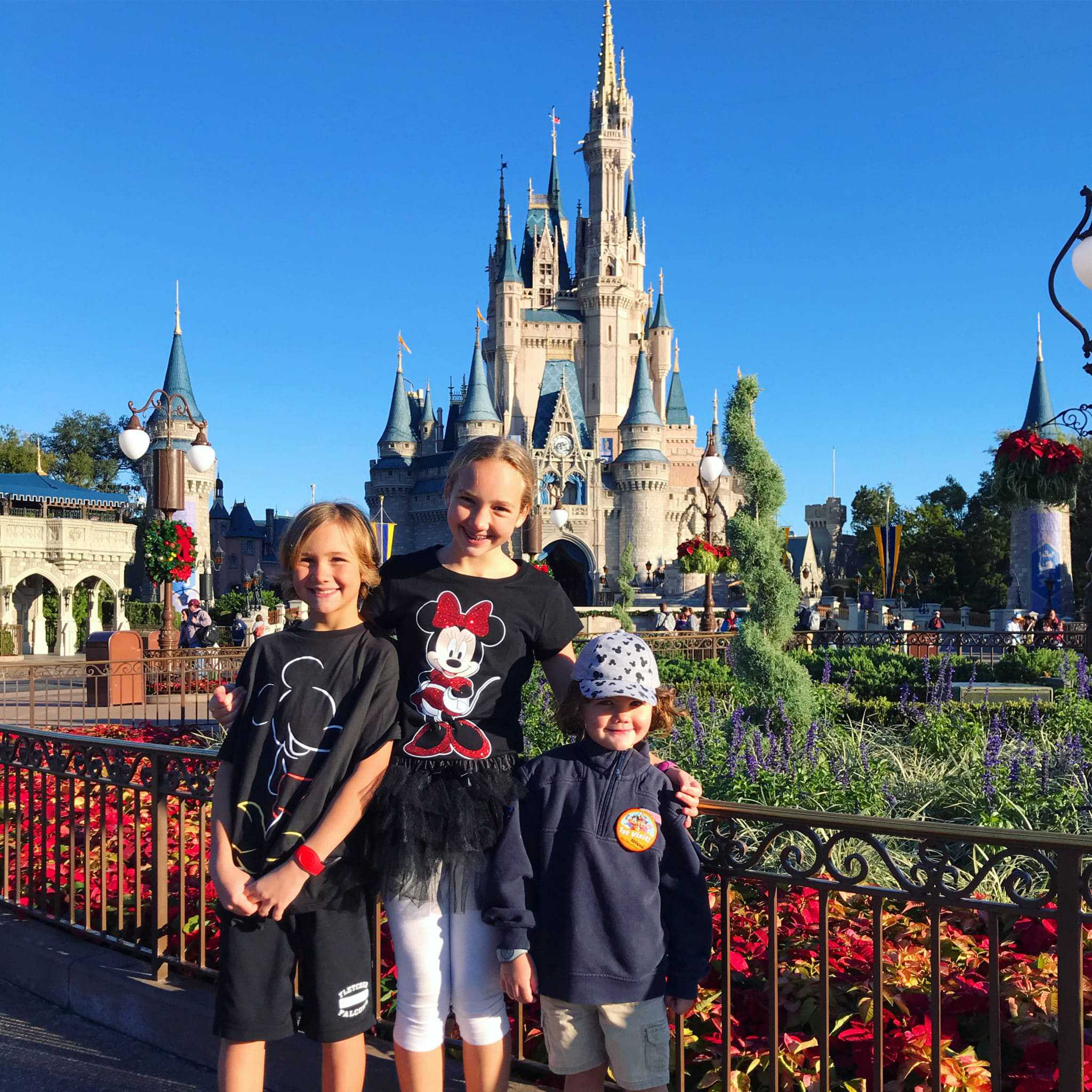 Magic Kingdom Magic three kids at christmas