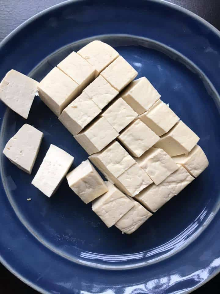 Firm tofu cut into pieces