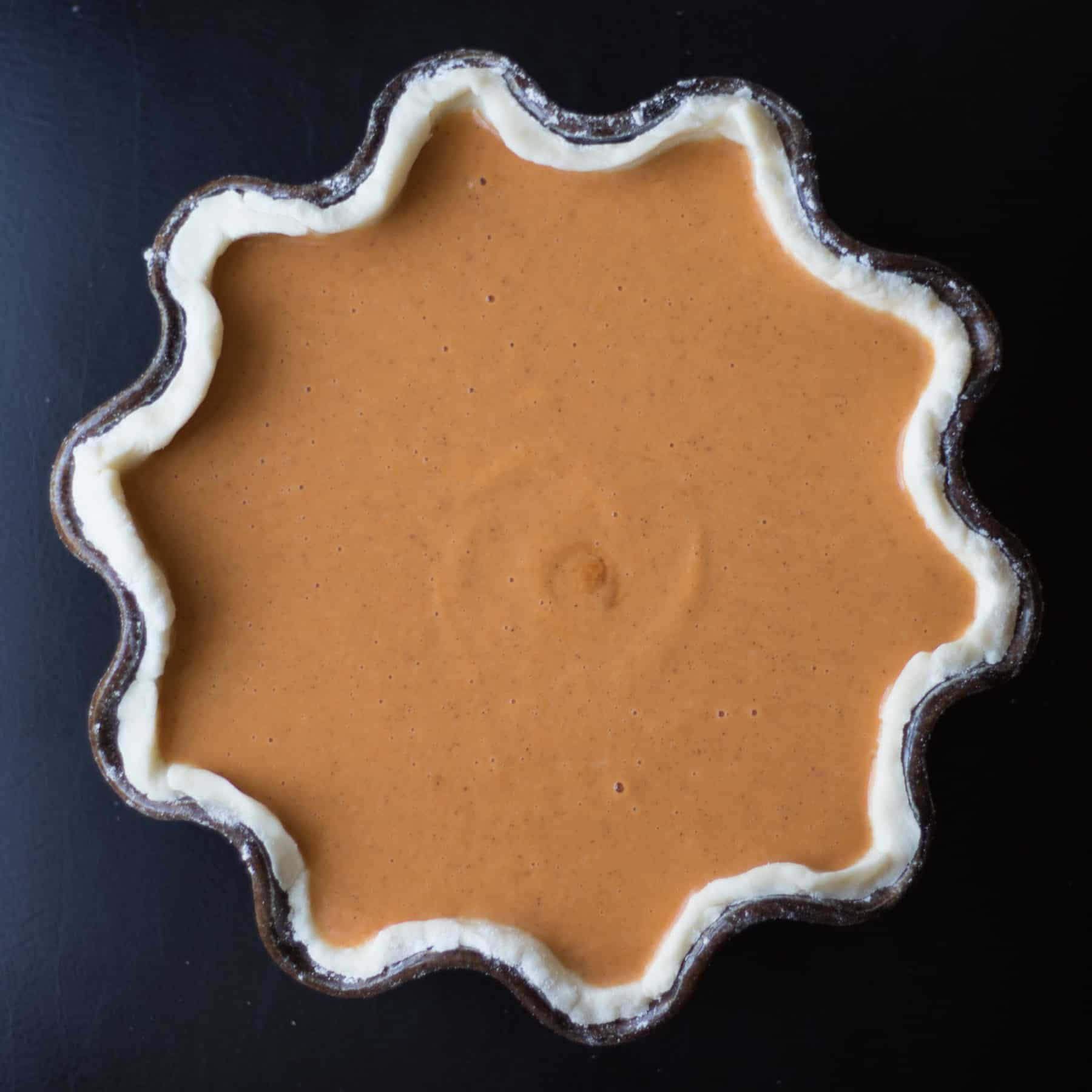 pumpkin pie in a gluten free pie crust