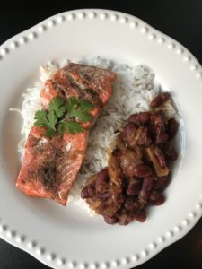 salmon and beans