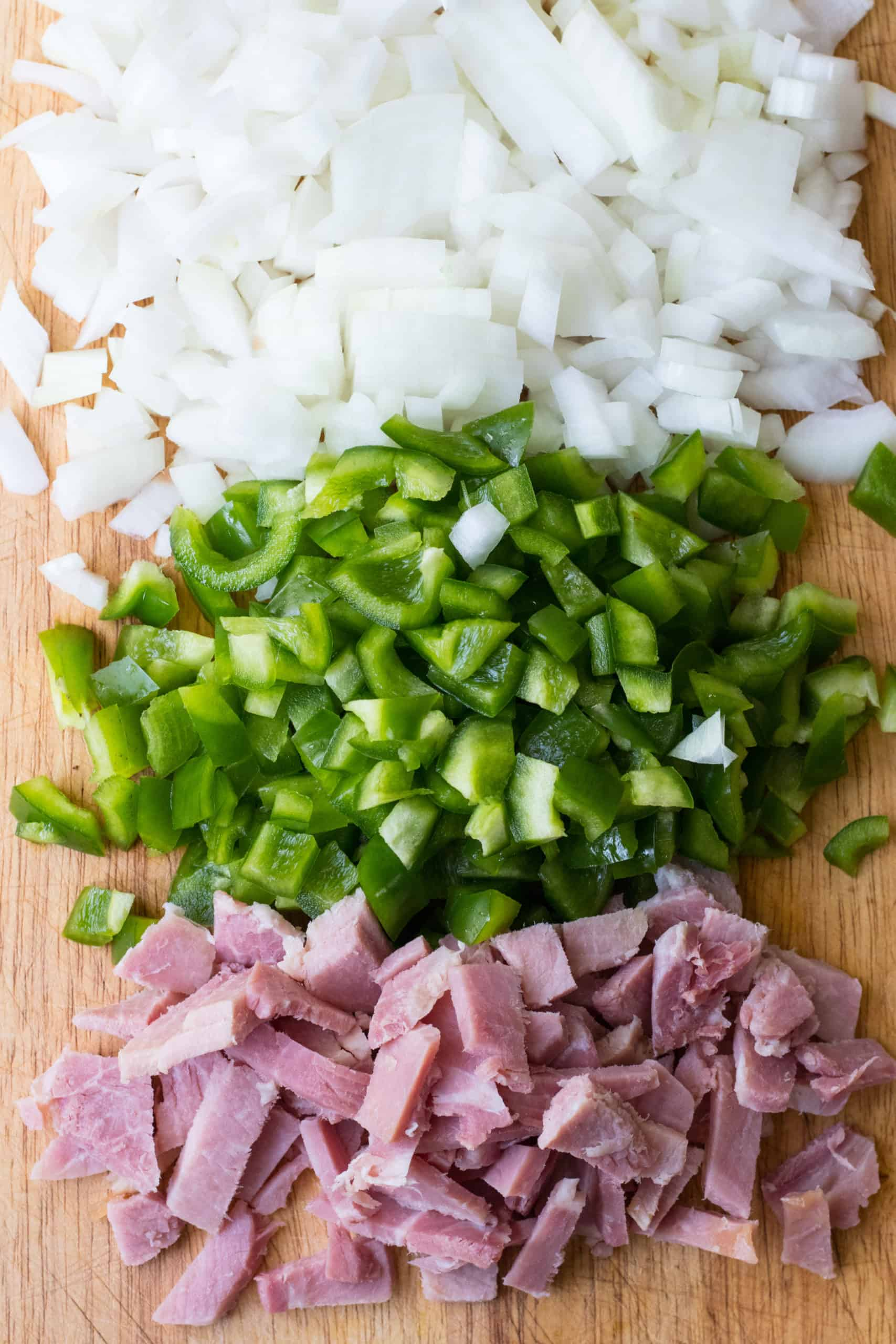 ham peppers onion chopped