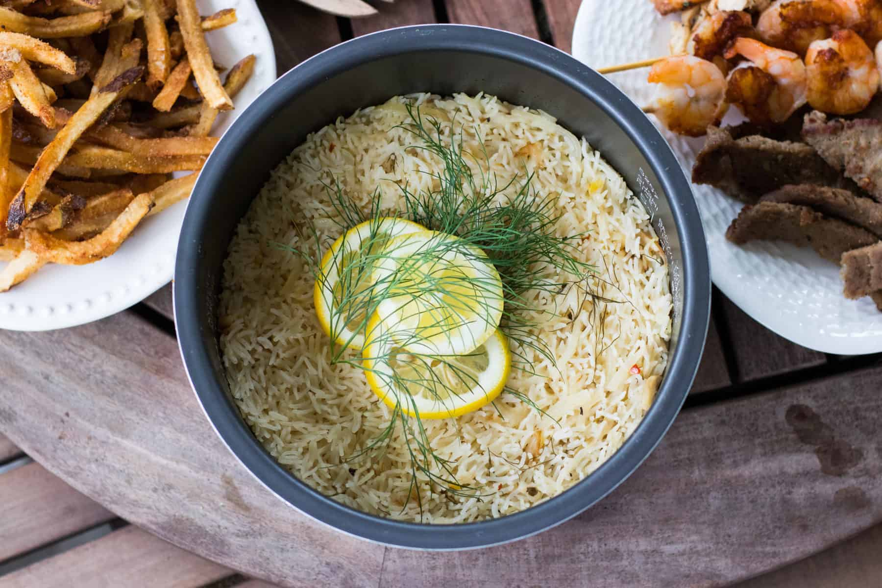 lemon rice with takeout