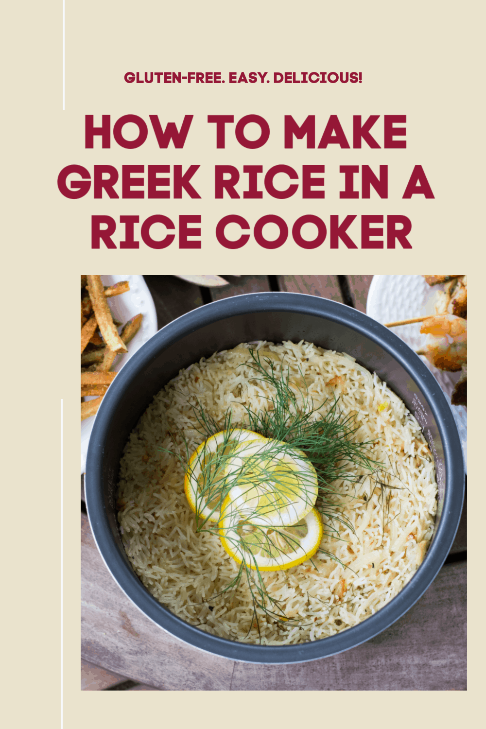 Greek Rice In A Rice Cooker