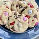 Super Soft Valentine's Day Cookies on a plate